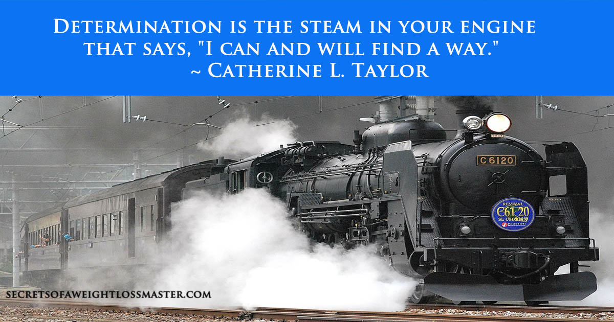 """Determination is the steam in your engine that says, """"I can and will find a way."""" ~ Catherine L. Taylor"""